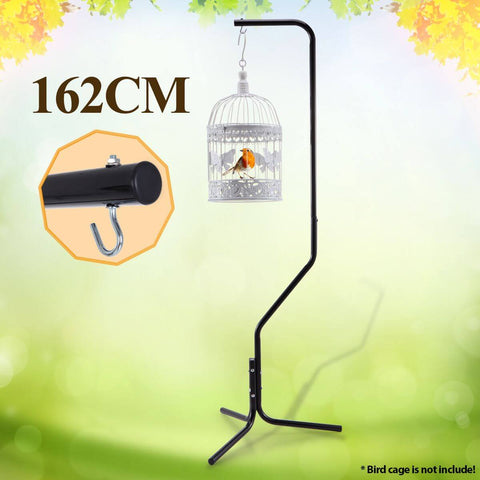 Image of 162cm Bird Cage Hanger Stand - Black Iron Tube Frame