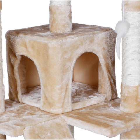 Image of 170cm Beige Cat Scratching Post Cradle Cube