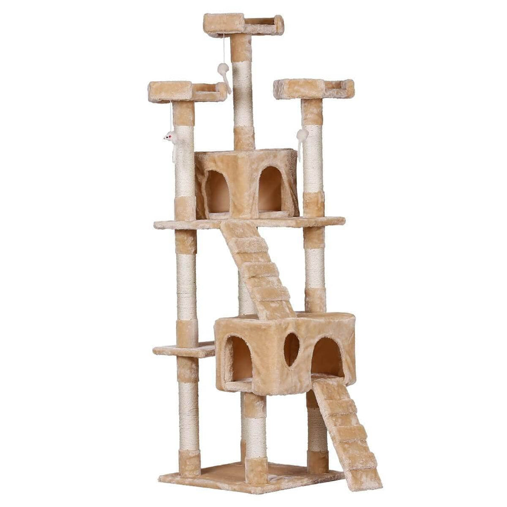 170cm Beige Cat Scratching Post and Tree Gym House
