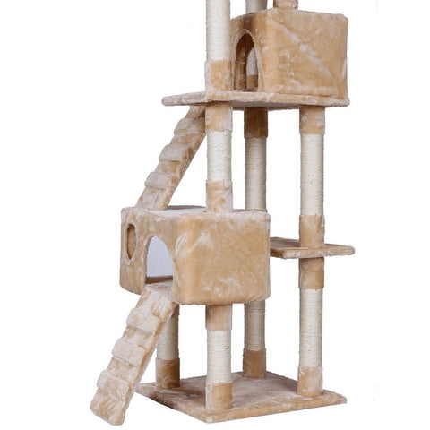 Image of 170cm Giant Cat Scratch Perch Climbing Tree Gym Condo Tower