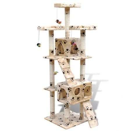 Cat Tree Cat Scratching Post 170 cm 2 Condos