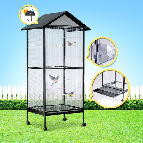 Image of 185cm Intricately Designed Large Stand-Alone Bird Cage