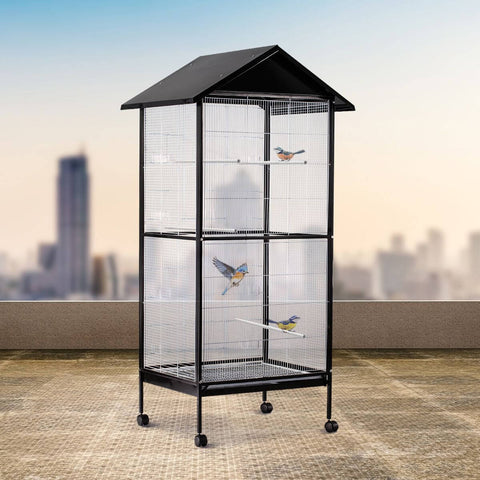 Image of 185cm Tall Bird Cage on Wheels