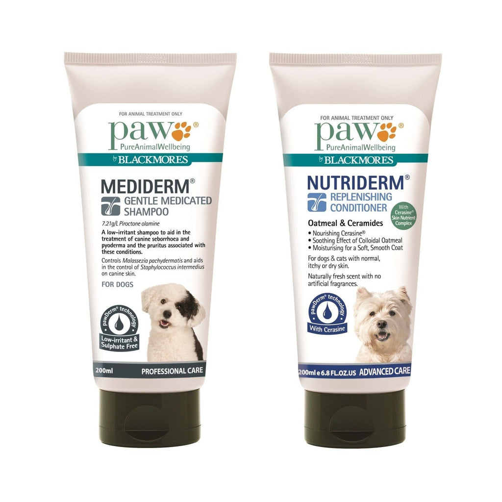 Paw Mediderm And Nutriderm Shampoo & Conditioner Duo