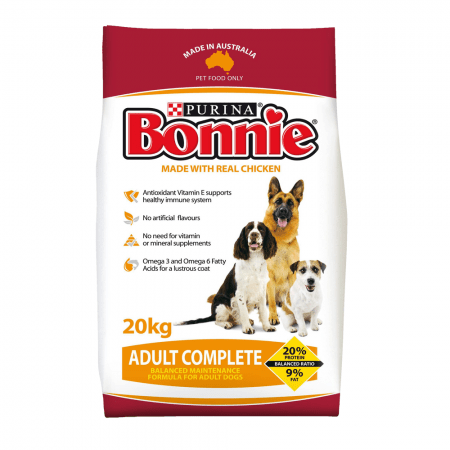 Bonnie Adult Dog Food Complete 20kg Everyday Pets