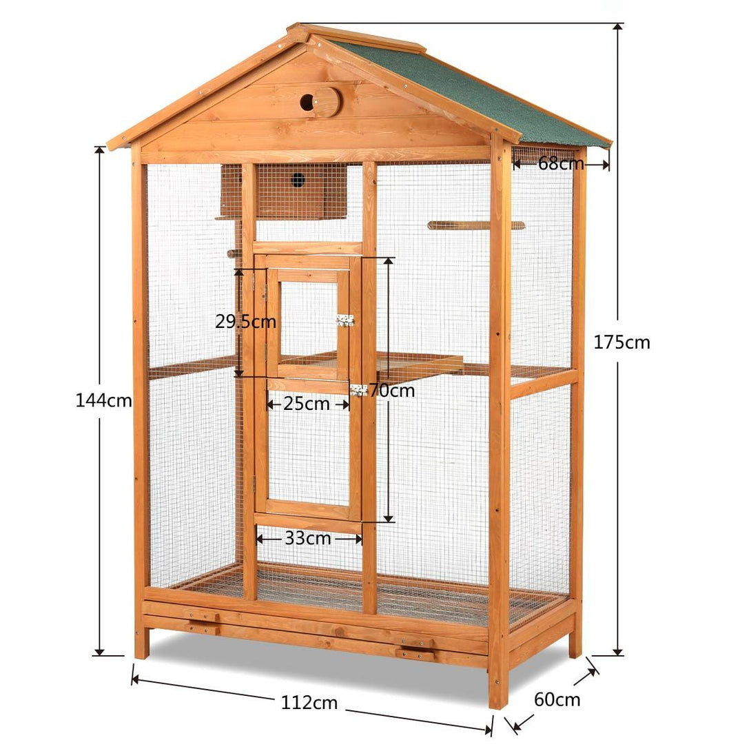 Large Wooden Bird Cage 175cm
