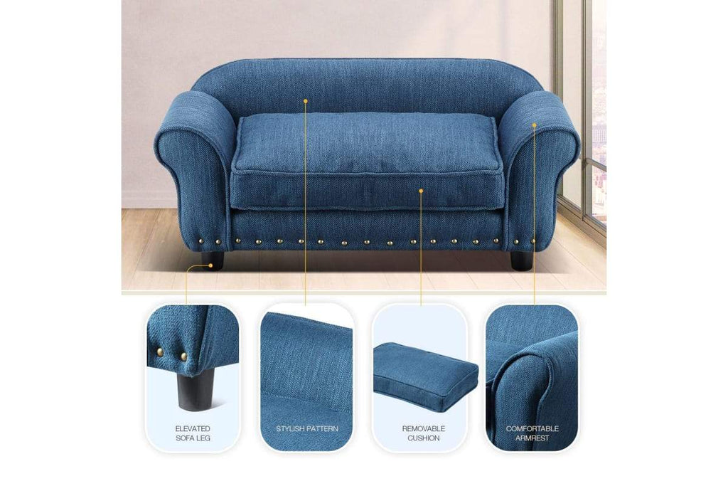 Petscene Large Size Pet Bed Dog Cat Bed Sofa Couch Puppy Kitten Luxury Lounge