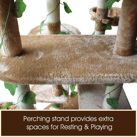 Image of 2.1M Multi-Level Cat Condo with 5 Perching Stand 2 Condos