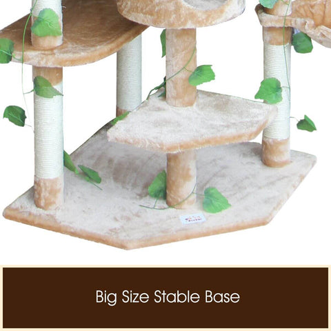 2.1M Multi-Level Cat Tree with a Stable Base