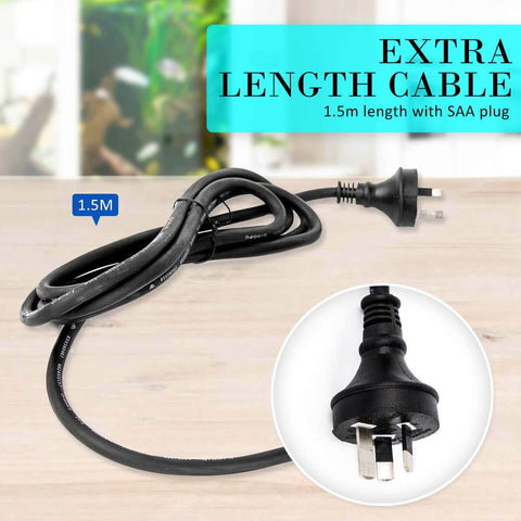 2.5m 1600LH Aqua Aquarium Filter Pump Submersible Pump Extra Length Cable 1.5m