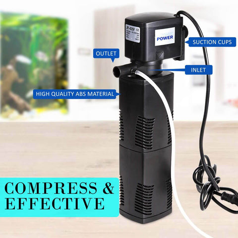 2.5m 1600LH Aqua Aquarium Filter Pump Submersible Pump High Efficiency