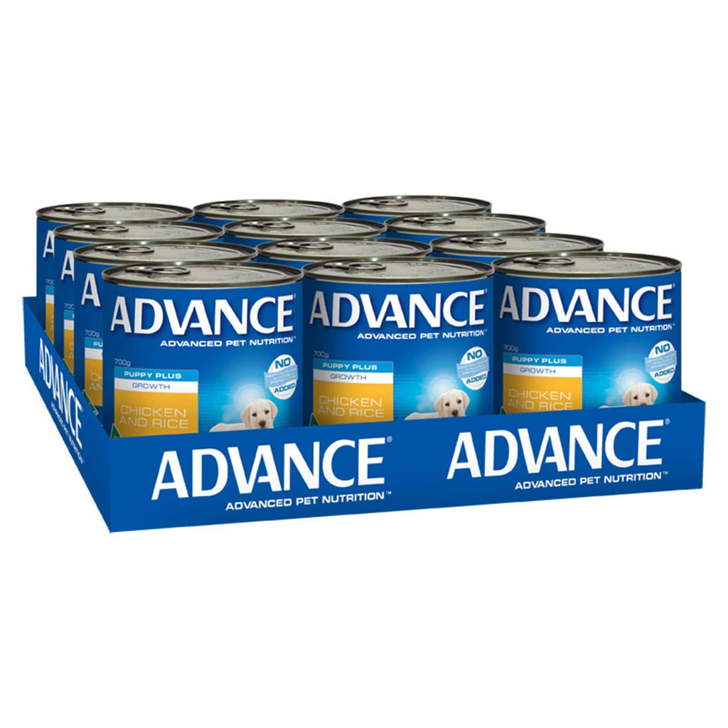Advance Puppy Plus Wet Dog Food Chicken & Rice 12 x 700gms Everyday Pets
