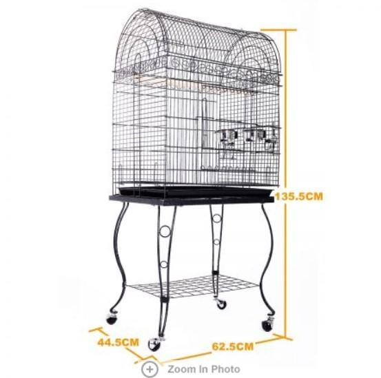 Large Stand-Alone Bird Cage on Wheels