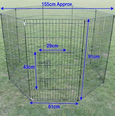"36"" 8 Panel Pet Playpen Enclosure"