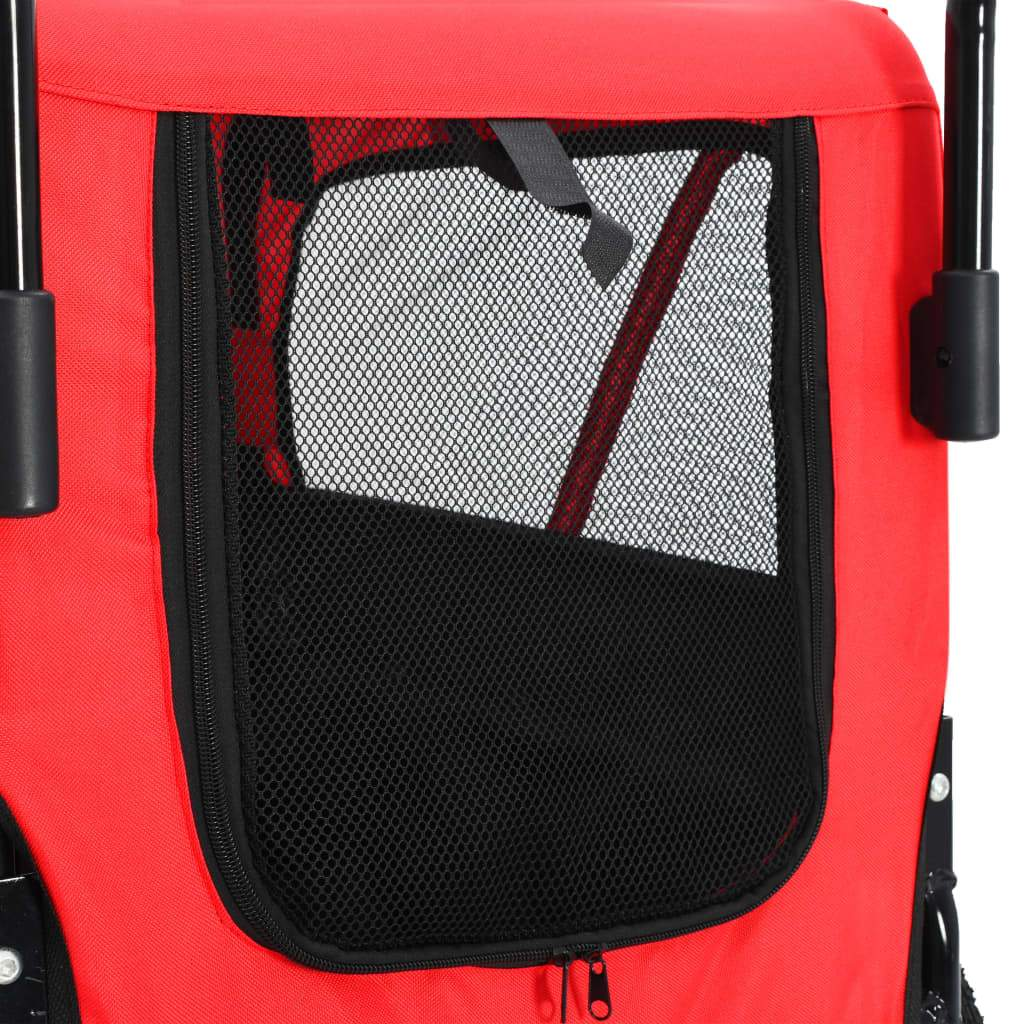 2-in-1 Pet Bike Trailer and Jogging Stroller Back Mesh Cover Everyday Pets