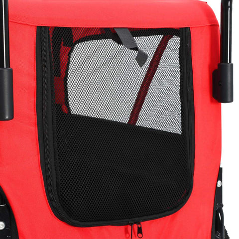 Image of 2-in-1 Pet Bike Trailer and Jogging Stroller Back Mesh Cover Everyday Pets