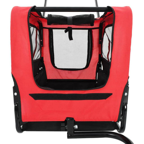 Image of 2-in-1 Pet Bike Trailer and Jogging Stroller Front and Top Mesh Cover Open Everyday Pets