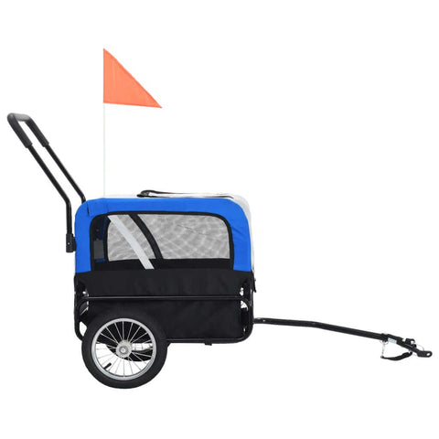 Image of 2-in-1 Pet Bike Trailer and Jogging Stroller Side View Everyday Pets