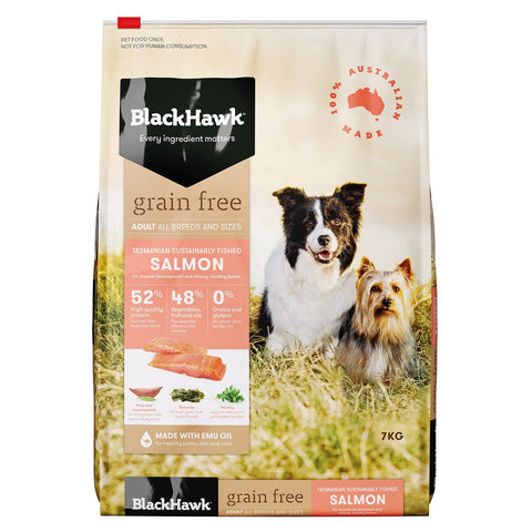Image of Black Hawk Grain Free Holistic Adult Dog Food Salmon 7kg Everyday Pets
