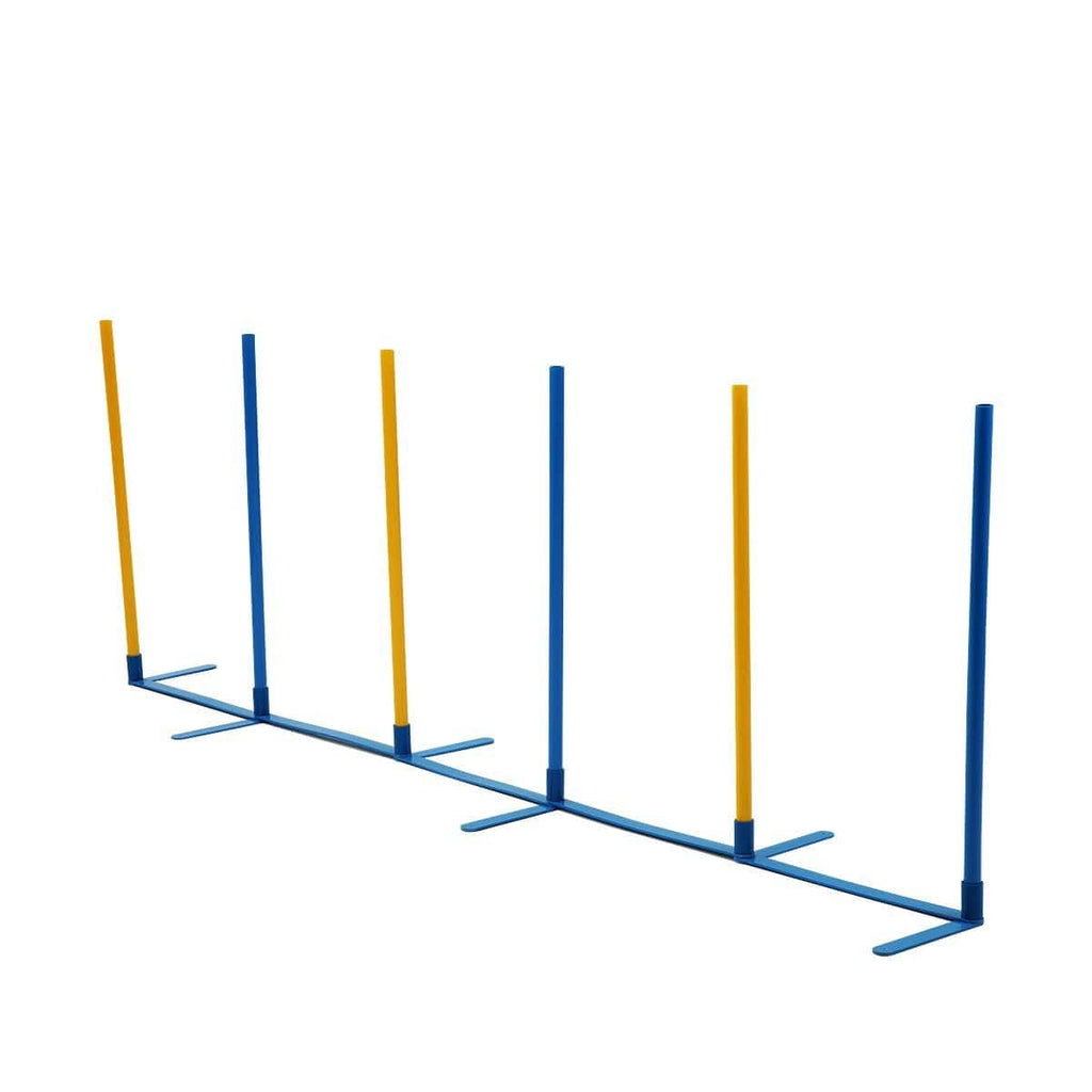 Dog Training Practice Weave Poles Agility Post Set