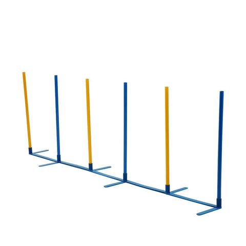 Image of Dog Training Practice Weave Poles Agility Post Set