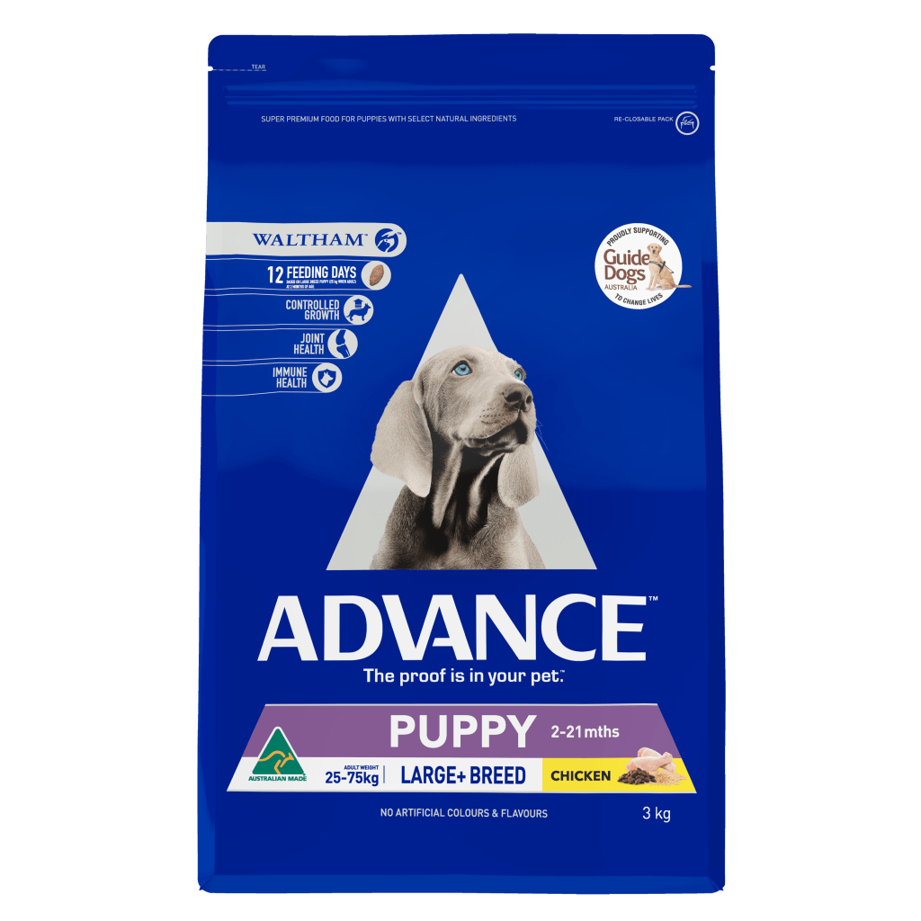 Advance Puppy Plus Growth Large+ Breed Dry Dog Food Chicken 3kg Everyday Pets