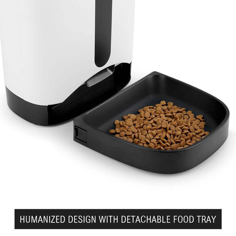 Image of 4.3L Automatic Digital Pet Feeder Food Bowl Dispenser  Humanized Design Detachable Food Tray Everyday Pets