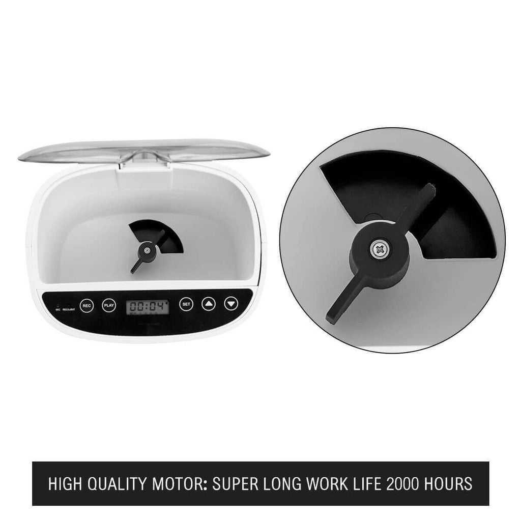 4.3L Automatic Digital Pet Feeder Food Bowl Dispenser High Quality Motors 2000 Hours Work Life Everyday Pets
