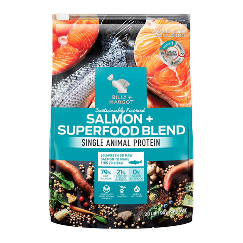 Image of Billy + Margot Grain Free Superfood Blend Salmon Dog Food 9kg Everyday Pets