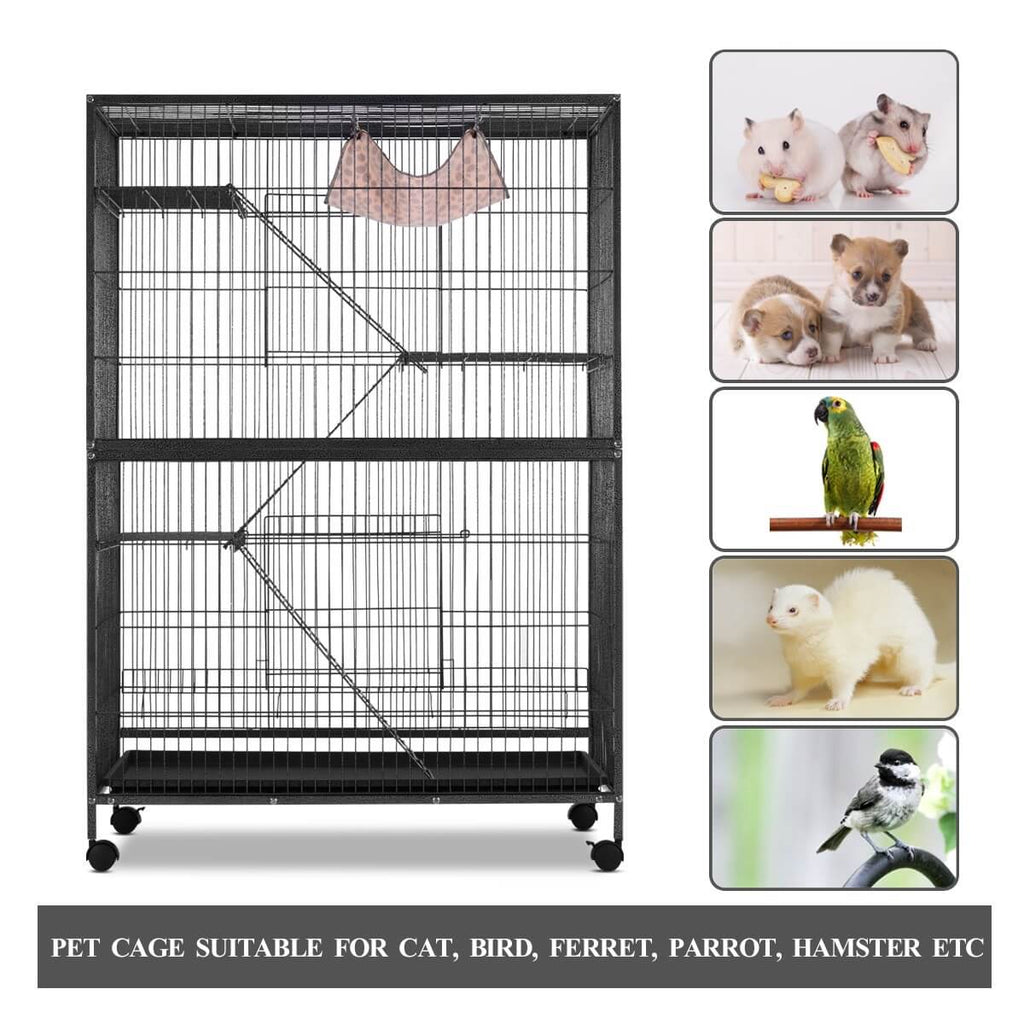 4 Levels Pet Cage Suitable for Cat Bird Ferret Parrot Hamster