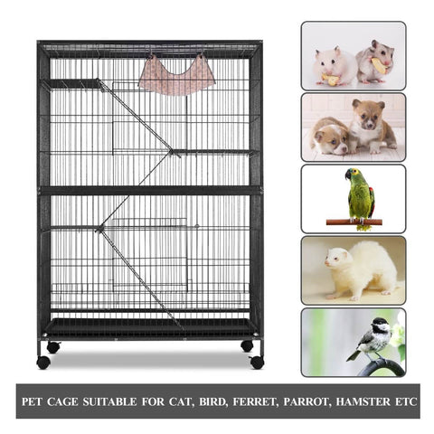 Image of 4 Levels Pet Cage Suitable for Cat Bird Ferret Parrot Hamster