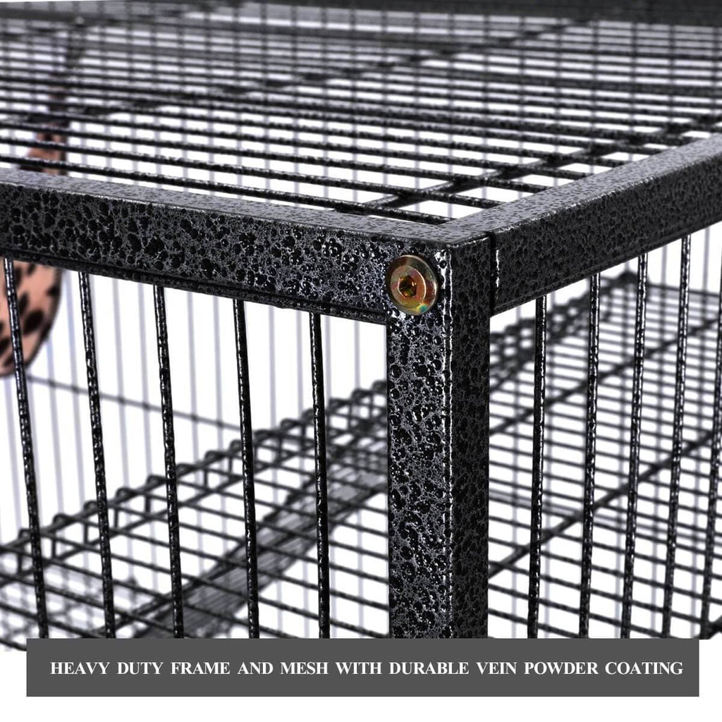 4 Levels Powder Coated Frame Pet CAT Home Cage Heavy Duty Frame