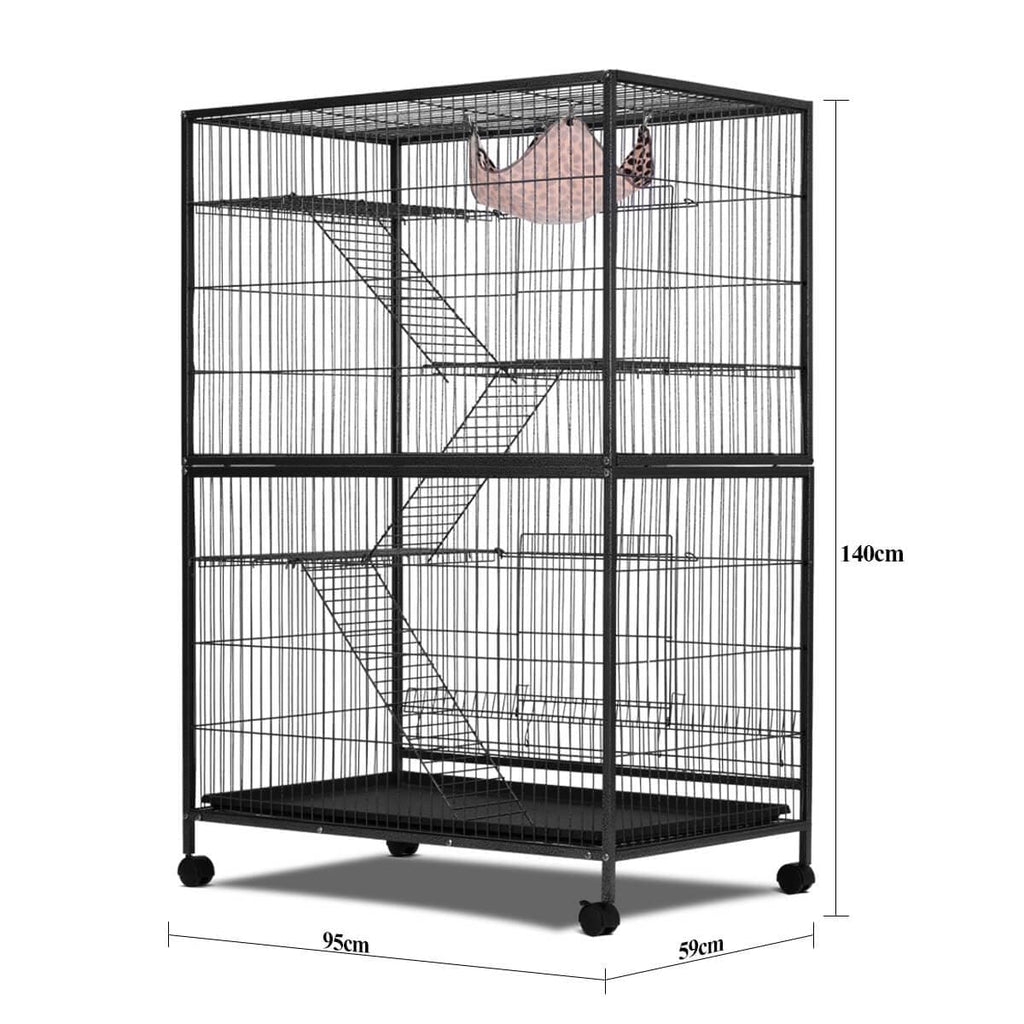 4 Levels Powder Coated Frame Pet CAT Home Cage