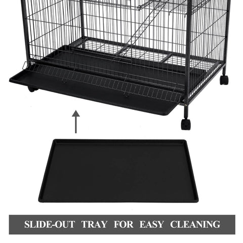Image of 4 Levels Powder Coated Frame Pet CAT Home Cage with Slide Out Tray