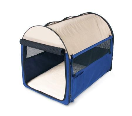 Image of Medium Sized 61Cm Long Portable Pet Carrier/House/Cage With Carrying Handle - Blue