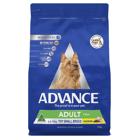 Image of Advance Adult Dog Toy Small Breed Dry Dog Food Chicken 3kg Everyday Pets