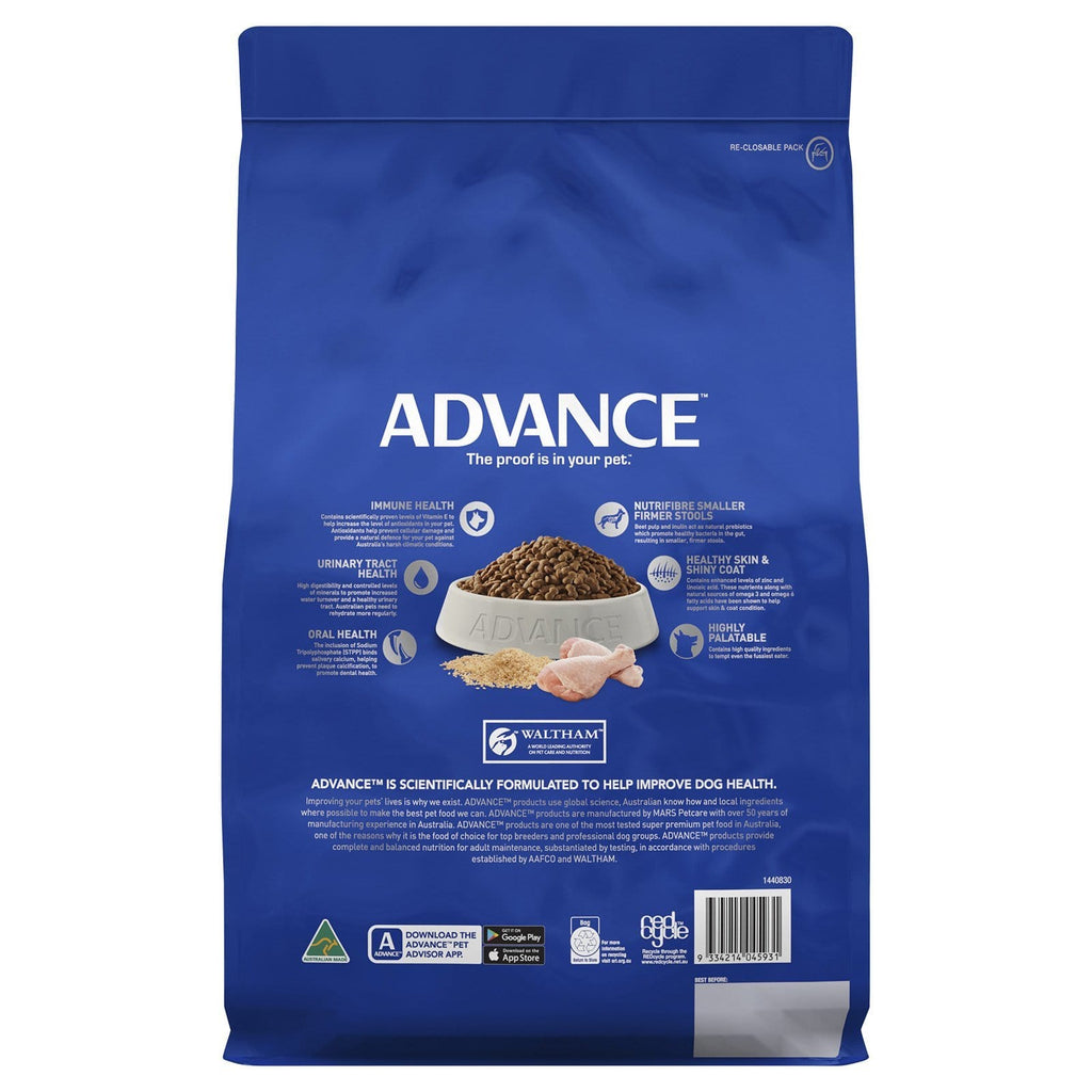 Advance Adult Dog Toy Small Breed Dry Dog Food Chicken 3kg