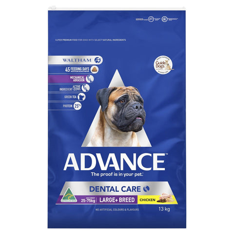 Image of Advance Adult Dog Dental Large Breed Dry Dog Food Chicken 13kg Everyday Pets