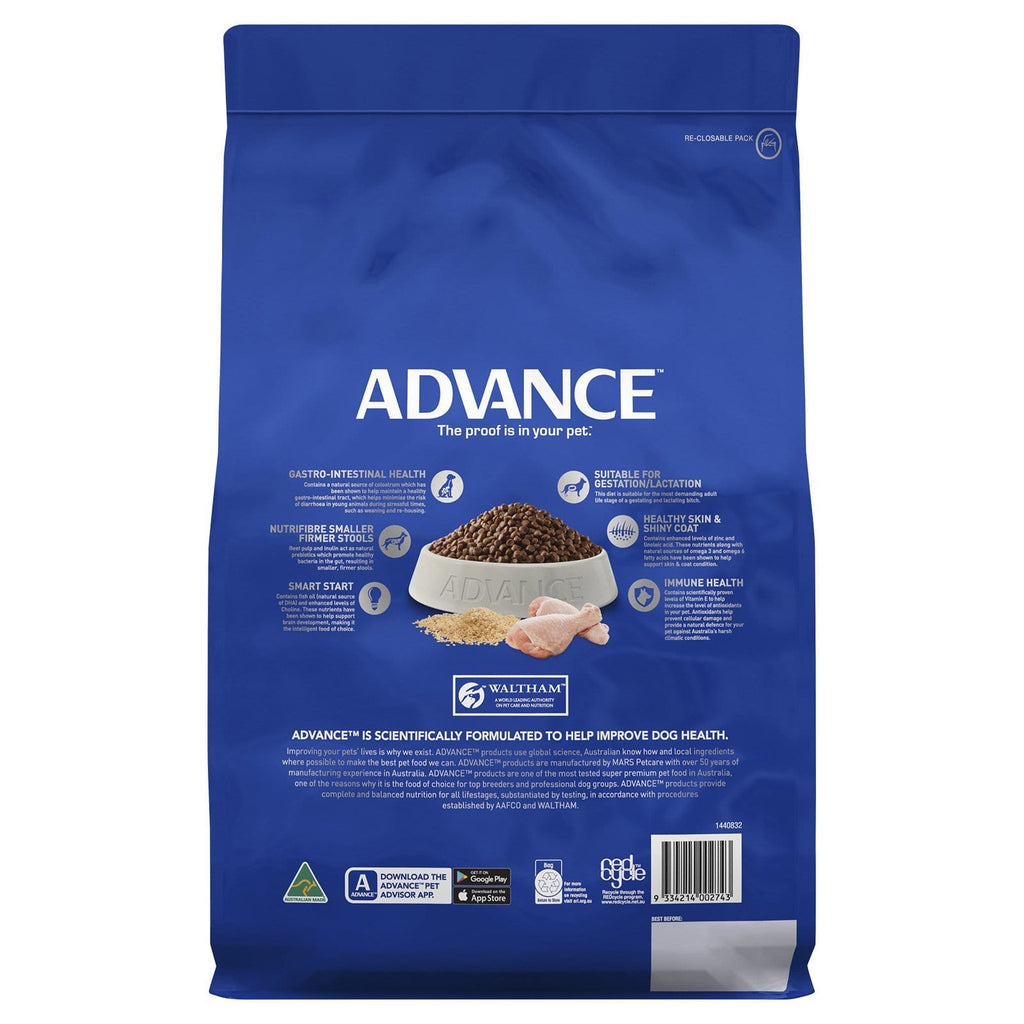Advance Puppy Plus Growth Toy Small Breed Dry Dog Food Chicken 3kg Everyday Pets
