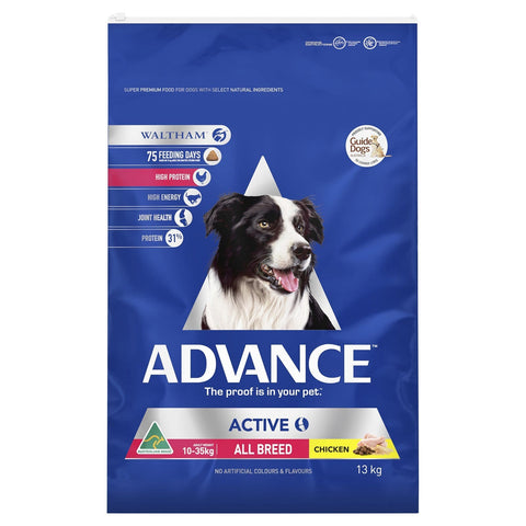 Image of Advance Adult Dog Active All Breed Dry Dog Food Chicken 13kg Everyday Pets