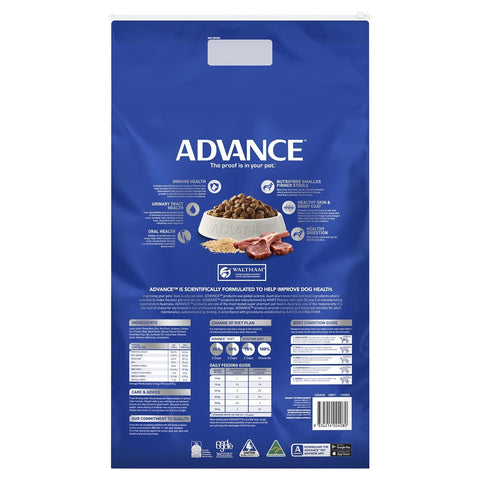 Image of Advance Adult Dog All Breed Dry Dog Food Lamb 15kg Everyday Pets