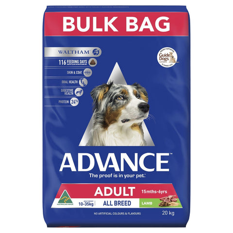 Image of Advance Adult Dog All Breed Dry Dog Food Lamb 20kg Everyday Pets
