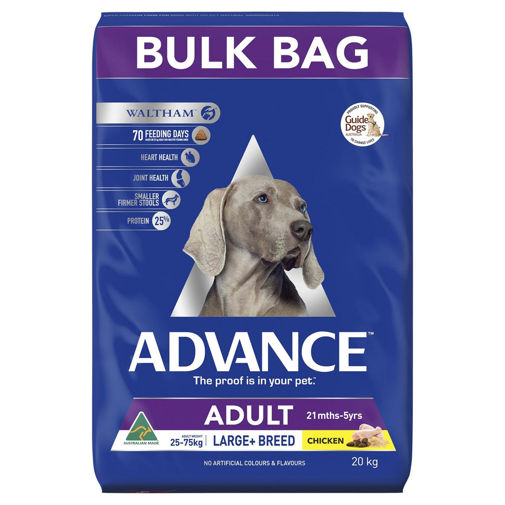 Advance Adult Large Breed Dry Dog Food Chicken 20kg Everyday Pets