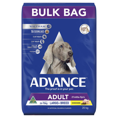 Image of Advance Adult Large Breed Dry Dog Food Chicken 20kg Everyday Pets