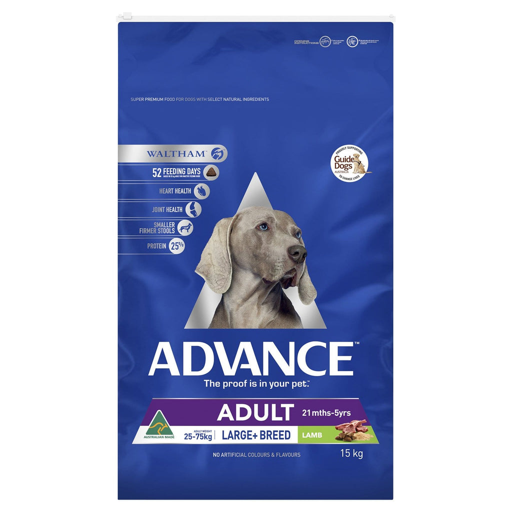 Advance Adult Dog Large Breed Lamb Dry Dog Food Lamb 15kg Everyday Pets