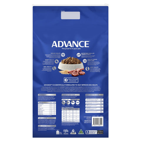Image of Advance Adult Dog Large Breed Lamb Dry Dog Food Lamb 15kg Everyday Pets