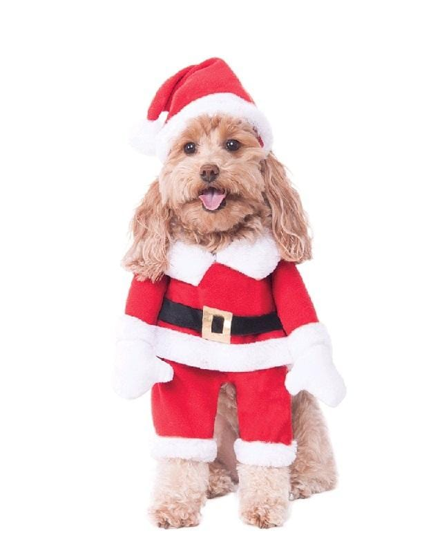 Walking Santa Deluxe Pet Costume