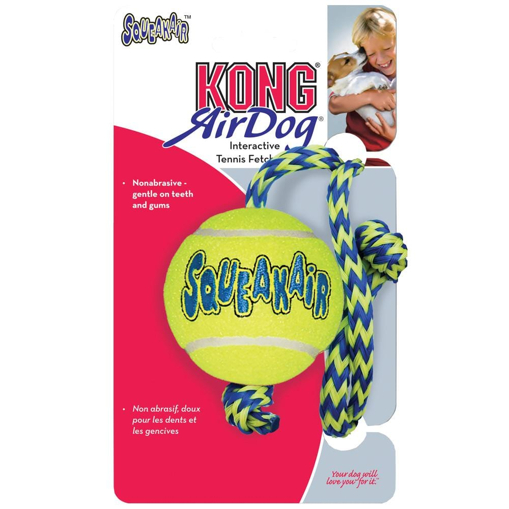KONG AirDog Squeaker Ball w/ Rope Medium
