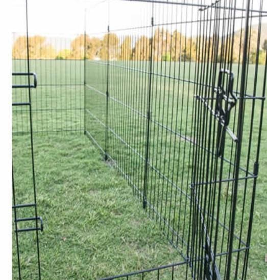 "36"" Home Ready Dog Kennel 8 Panel Steel Frame Dog Crate Long Lasting Dog Puppy Cat Enclosure 61cm x 91cm"