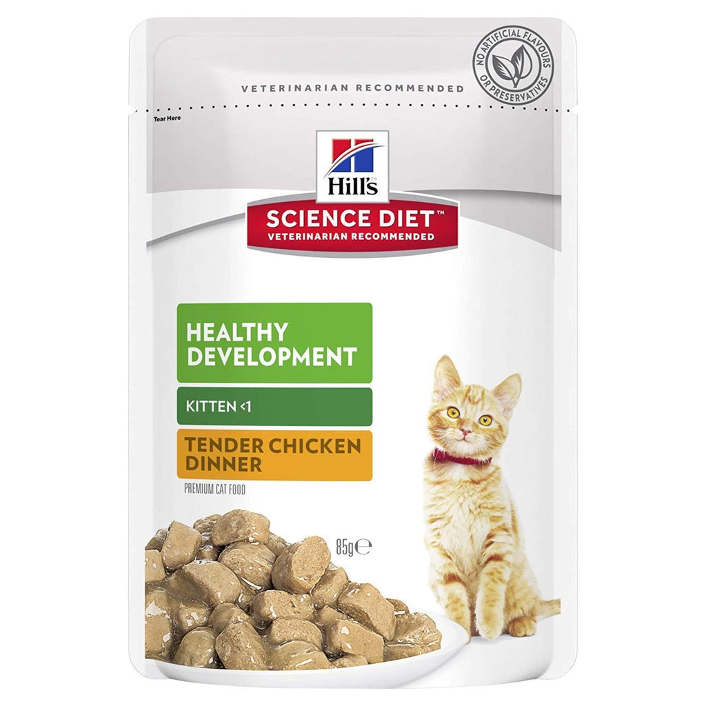 Hill's Science Diet Kitten Wet Food Pouches 12 x 85g Everyday Pets
